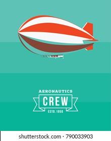 Zeppelin vector illustration. Aeronautics