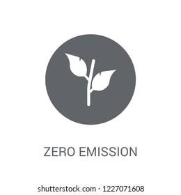 Zero emission icon. Trendy Zero emission logo concept on white background from Smarthome collection. Suitable for use on web apps, mobile apps and print media.
