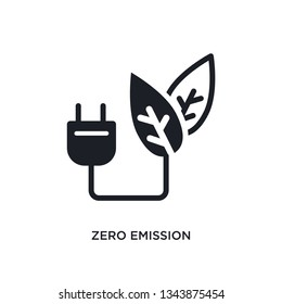 zero emission isolated icon. simple element illustration from smart house concept icons. zero emission editable logo sign symbol design on white background. can be use for web and mobile