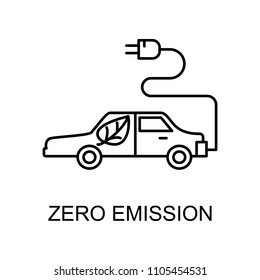zero emission outline icon. Element of enviroment protection icon with name for mobile concept and web apps. Thin line zero emission icon can be used for web and mobile on white background