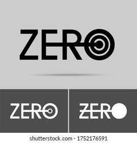 Zero logo; numeral and word logo for number. Zero letter with zero figure logo design. Zero logo for sportive works and any sectors.
