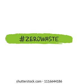 Zero waste concept. Recycle, reuse and reduce. Ecological lifestyle and sustainable developments. Vector object isolated on white background.