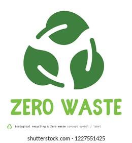 Zero waste concept symbol
