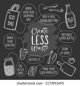 Zero waste. Eco lifestyle, vector design.