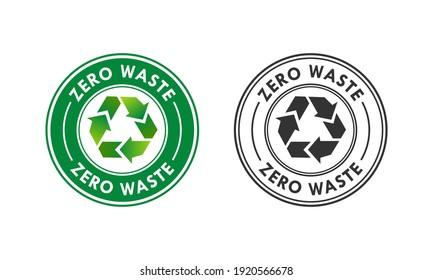 Zero waste logo template illustration