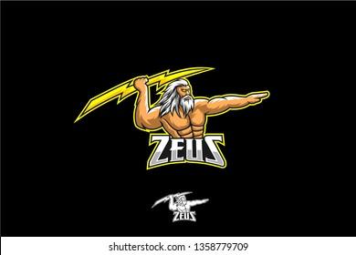 Zeus with bolt vector, zeus gaming logo