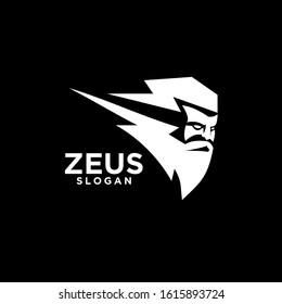 Zeus god head black logo design