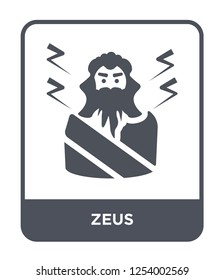 zeus icon vector on white background, zeus trendy filled icons from Greece collection, zeus simple element illustration