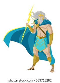 zeus jupiter god of the thunder and lighting bolt ray