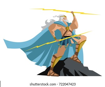 zeus jupiter greek god of the ray