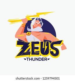 Zeus logo. character design of Zeus - vector illustration