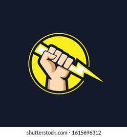 Zeus thunders logo concept. Zeus god