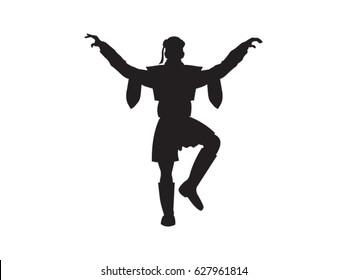 Zeybek Dancer figure, vector drawing