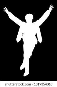 zeybek dancer silhouette