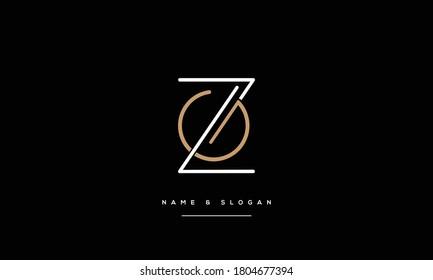 ZG,GZ ,Z G  Abstract Letters Logo Monogram