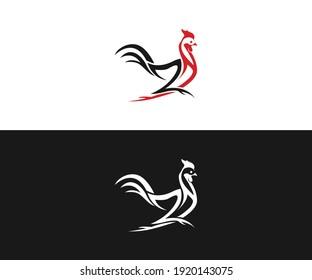 ZH AND Chicken Restaurant logo design