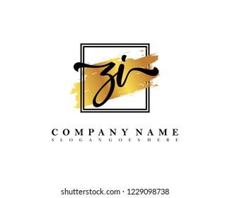 ZI Initial handwriting logo concept