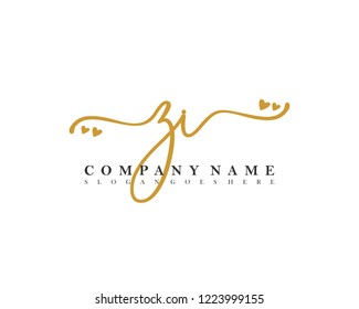ZI Initial handwriting logo vector