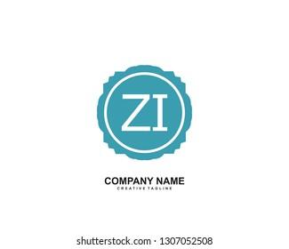 ZI initial logo template vector
