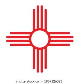 Zia symbol icon. Clipart image isolated on white background
