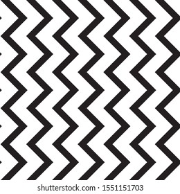 Zig zag Black and white stripes. African regular texture. Seamless pattern background vector