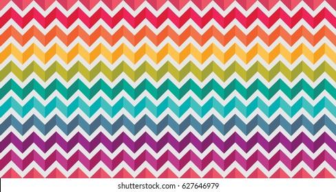 Zig zag linhas arco-íris