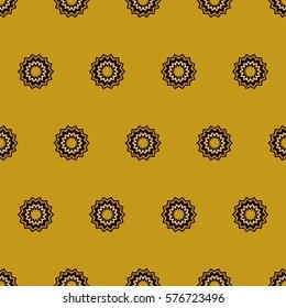 Zigzag circle gold and black