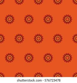 Zigzag circles orange, red and yellow