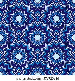 Zigzag circles overlapping blue