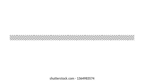 zigzag line page divider line, Graphic design element. Zigzag separator. Vector illustration isolated on white background.