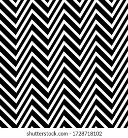 Zigzag lines seamless pattern. Angled jagged stripes ornament. Linear waves motif. Curves print. Striped background. Tilted broken line shapes wallpaper. Slanted wavy stripe figures. Vector artwork.