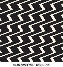 Zigzag lines surface. Jagged stripes seamless pattern. Vector design with triangular waves. Repeated chevrons wallpaper ornament.