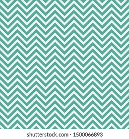 Zigzag pattern background green tosca color geometric abstract illustration, art.