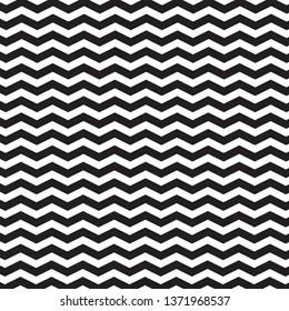 zigzag pattern black and white background. Chevron seamless pattern design.