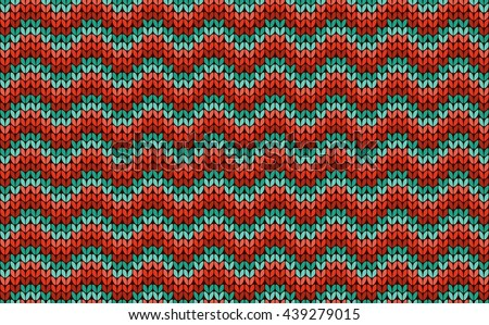 440990d6c Zigzag Seamless Knitting Colorful Pattern Vector Stock Vector ...