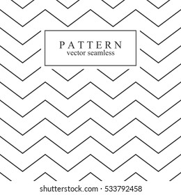 Zigzag seamless minimalistic pattern.