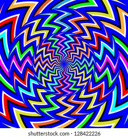 Zigzag Spinners     (motion illusion)
