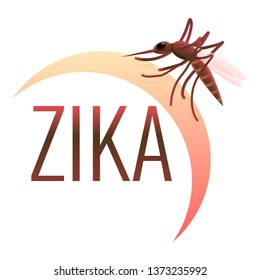 Zika virus icon. Cartoon of zika virus vector icon for web design isolated on white background