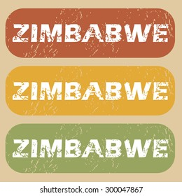 Zimbabwe on colored background
