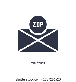 zip code isolated icon. Simple element illustration from delivery and logistics concept. zip code editable logo symbol design on white background. Can be use for web and mobile.