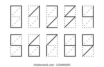 zip code numbers for envelope or postcard, vector illustration