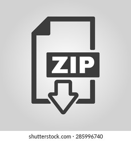 The ZIP file icon. Archive, compressed symbol. Flat Vector illustration