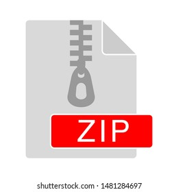 zip file icon. flat illustration of zip file vector icon. zip sign symbol