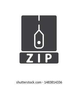 ZIP files type icon. flat simple pictogram. Archive file format vector illustration