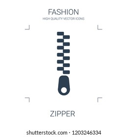 zipper icon. high quality filled zipper icon on white background. from fashion collection flat trendy vector zipper symbol. use for web and mobile