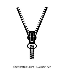 Zipper sign silhouette – vector
