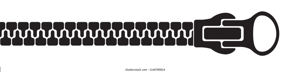 Zipper silhouette – stock vector