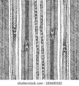 zipper texture