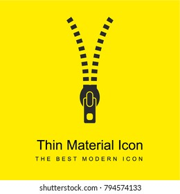 Zipper tool bright yellow material minimal icon or logo design