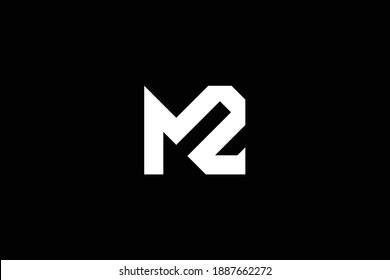 ZM letter logo design on luxury background. MZ monogram initials letter logo concept. ZM icon design. MZ elegant and Professional letter icon design on black background.
